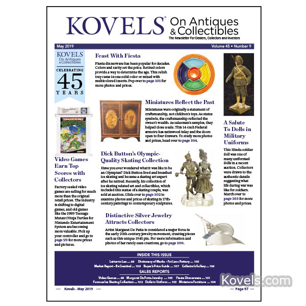Kovels On Antiques & Collectibles Vol. 45 No. 9 – May 2019