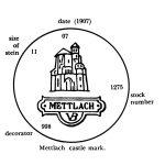 Mettlach castle mark