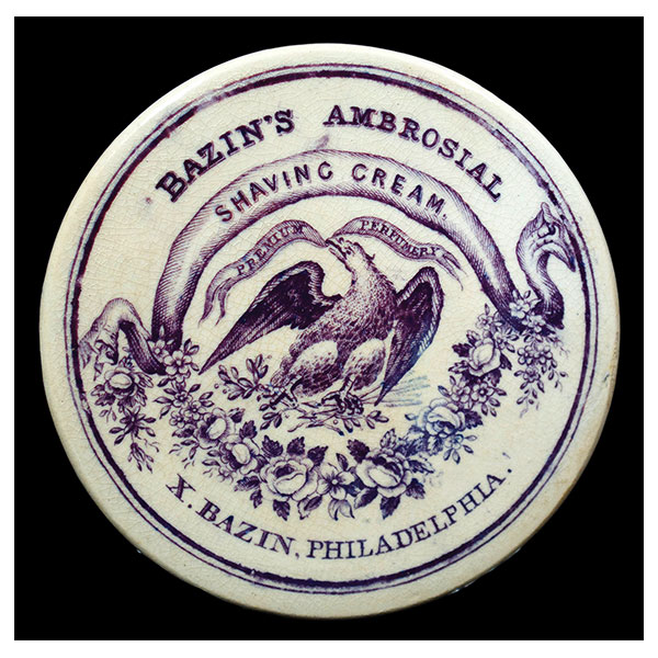 Bazins Ambrosial Shaving Cream pot lid