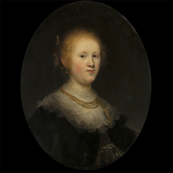 rembrandt portrait of a young woman art painting