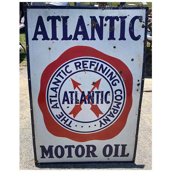 advertising sign, atlantic motor oil