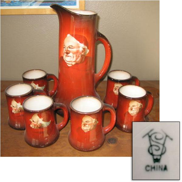 tst pottery beer set