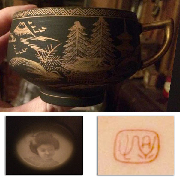 porcelain tea set kutani japan