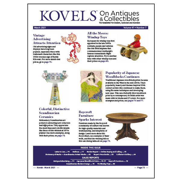 Kovels On Antiques & Collectibles Vol. 47 No.7 – March 2021