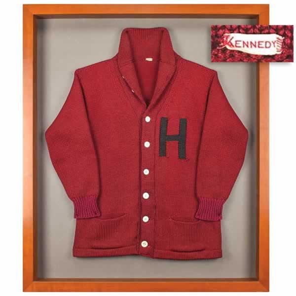 john f kennedy harvard letter red cardigan sweater