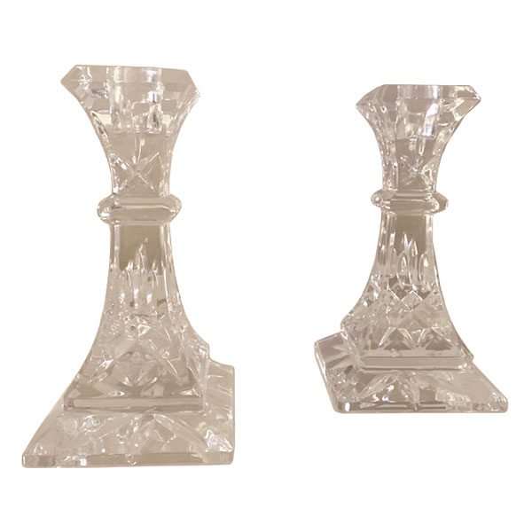 Pair of Waterford candlesticks