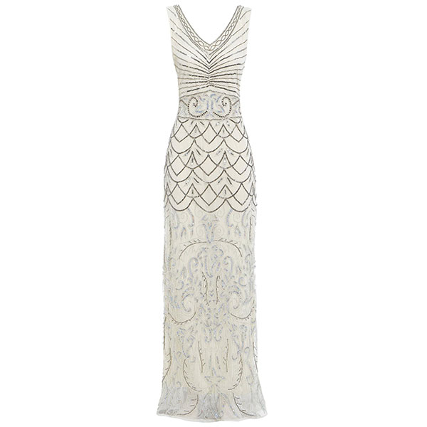 1920s-style flapper great gatsby wedding dress