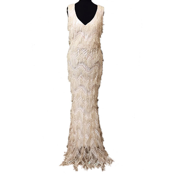 wedding dress 1920s art deco style