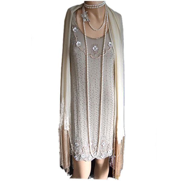1920s flapper great gatsby vintage wedding dress