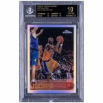 kobe bryant 1996 1997 topps chrome refractions 138 kobe bryant basketball sports card