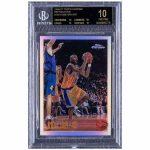 kobe bryant 1996 1997 topps chrome refractions 138 kobe bryant basketball sports card
