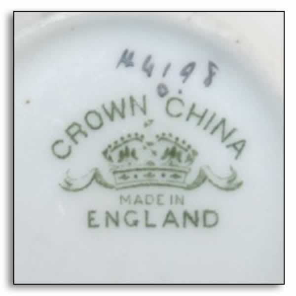 crown china mark
