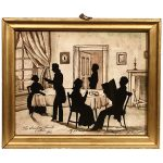 Silhouette of the Crawford Family
