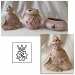 porcelain figurine box tray vanity dresser set