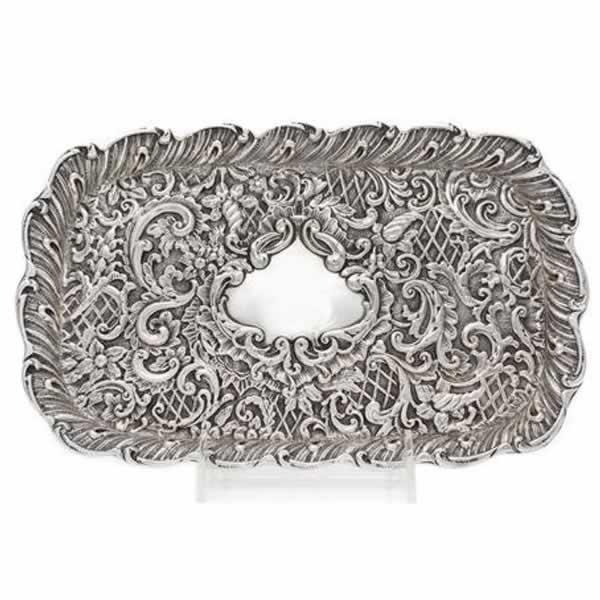 victorian silver tray h matthews birmingham 1898