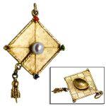 vintage 14k gold graduation cap pendant charm jewelry