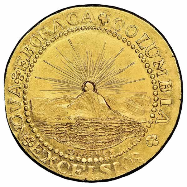 brasher coin, world's most famous coin