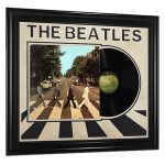 vintage the beatles abbey road record album framed