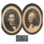 abraham lincoln and george washington framed pictures
