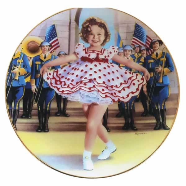 shirley temple plate, limited edition