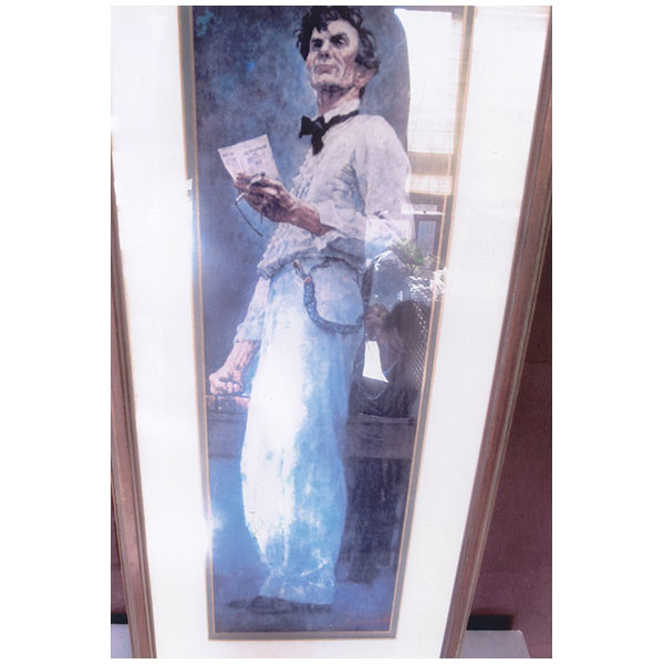 Norman Rockwell print - Abraham Lincoln